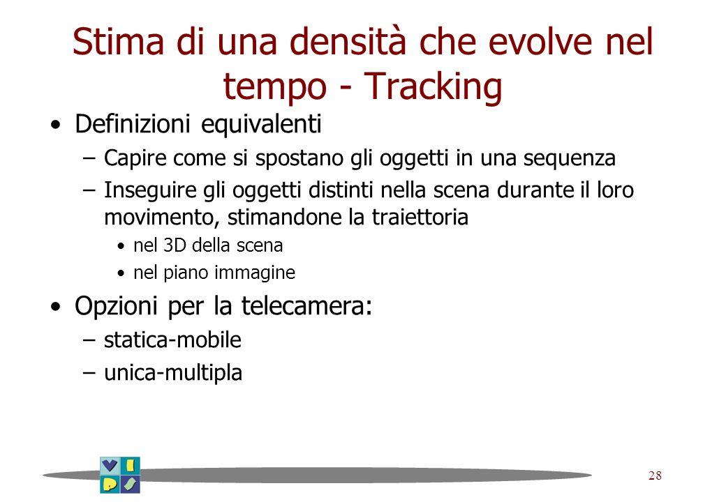 Stima di una densità che evolve nel tempo - Tracking