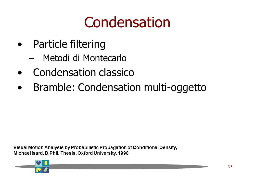 Condensation Particle filtering Condensation classico