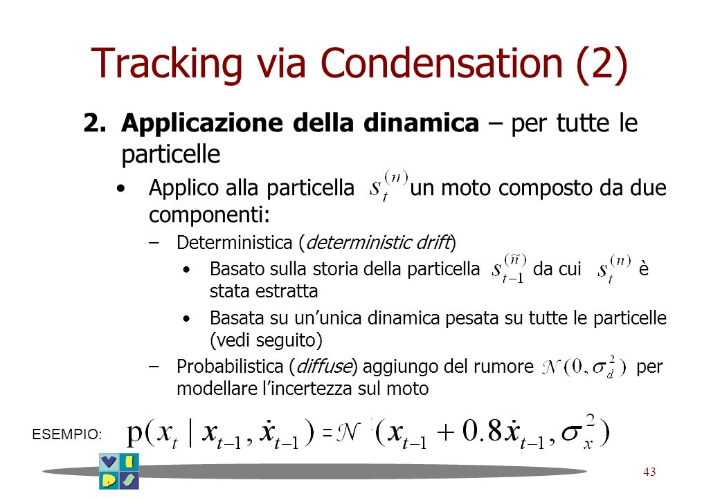 Tracking via Condensation (2)