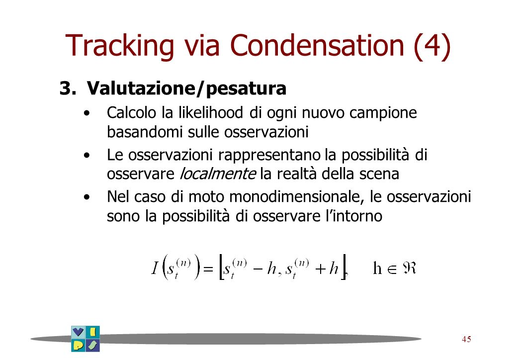 Tracking via Condensation (4)