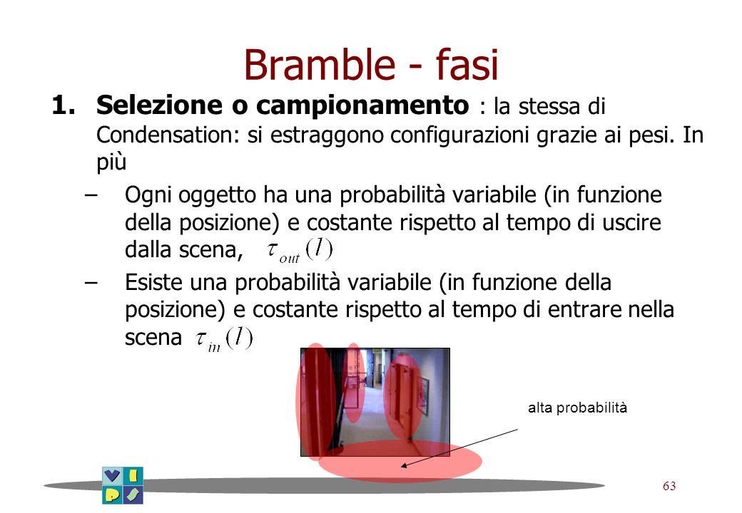 Bramble - fasi Selezione o campionamento : la stessa di Condensation: si estraggono configurazioni grazie ai pesi. In più.