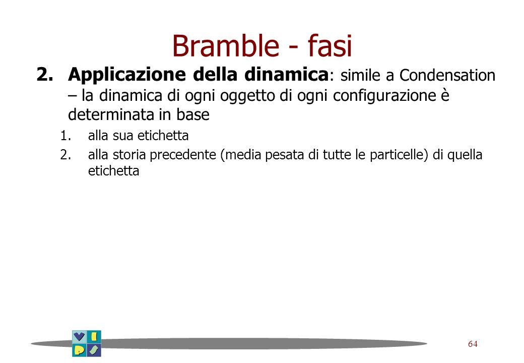 Bramble - fasiApplicazione della dinamica: simile a Condensation – la dinamica di ogni oggetto di ogni configurazione è determinata in base.