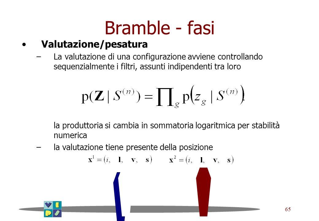 Bramble - fasi Valutazione/pesatura
