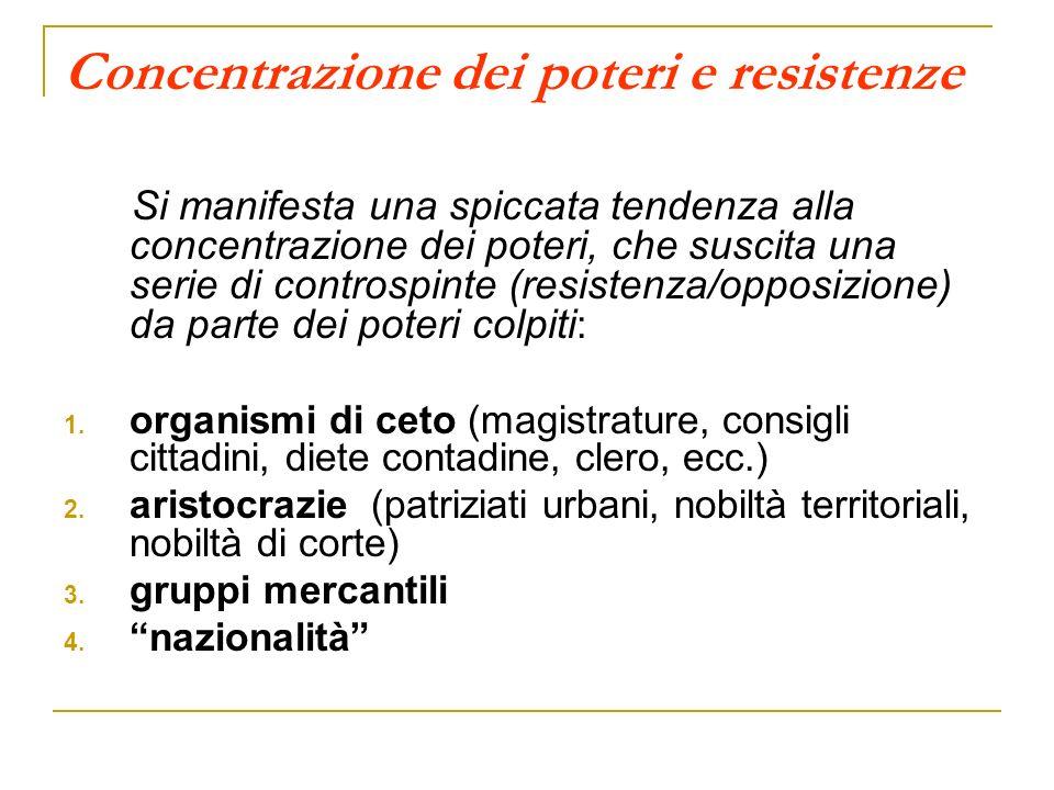 Concentrazione dei poteri e resistenze