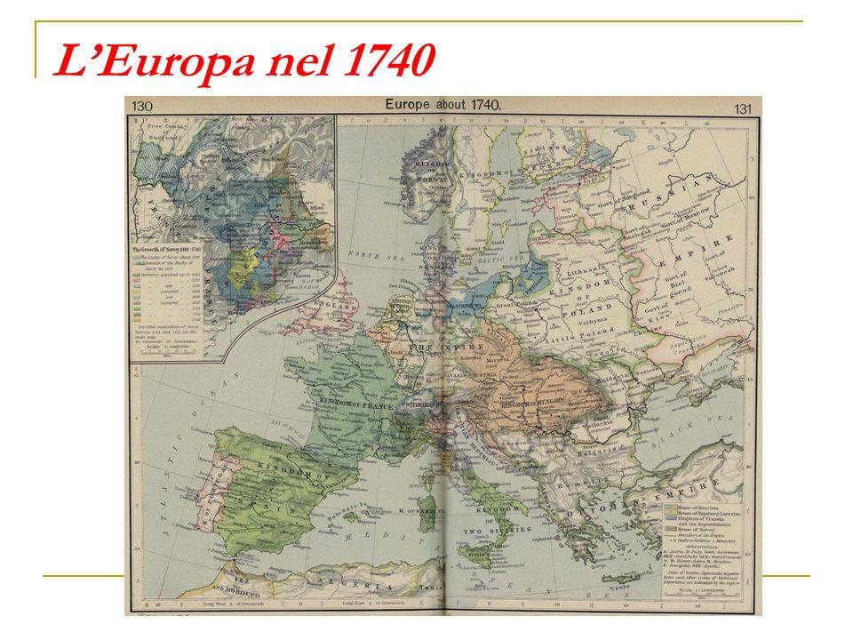 L'Europa nel 1740