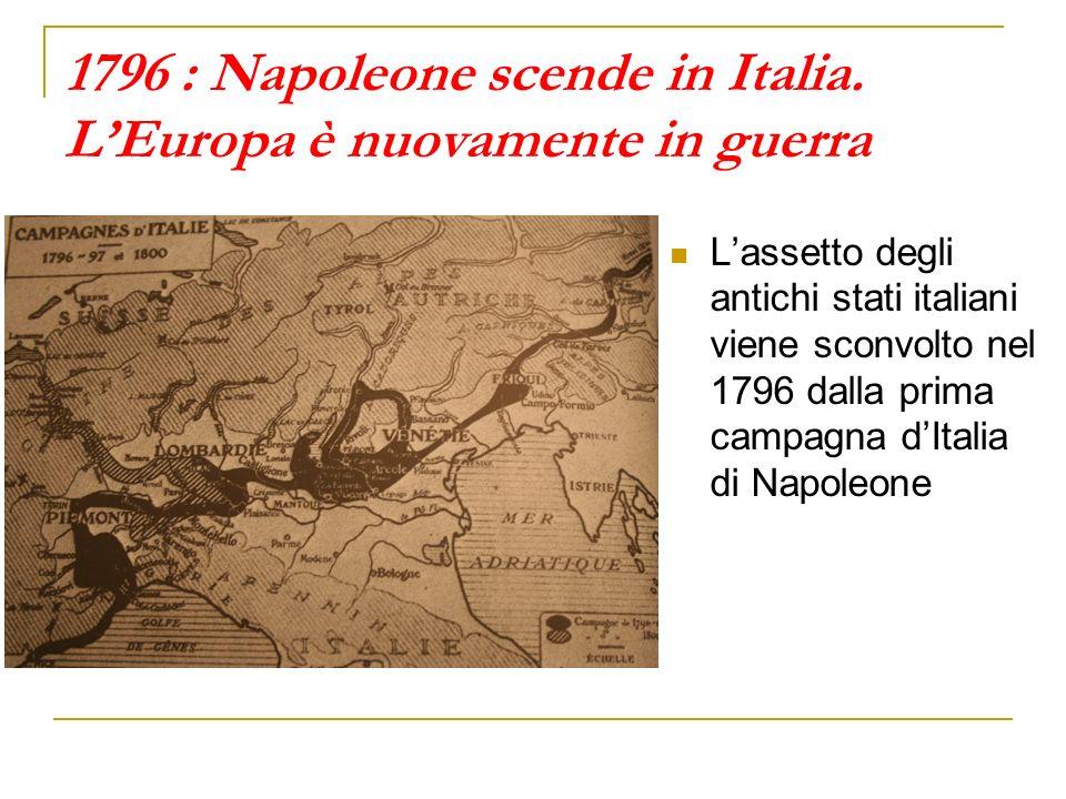 1796 : Napoleone scende in Italia. L'Europa è nuovamente in guerra