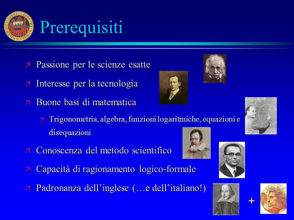Prerequisiti + Passione per le scienze esatte