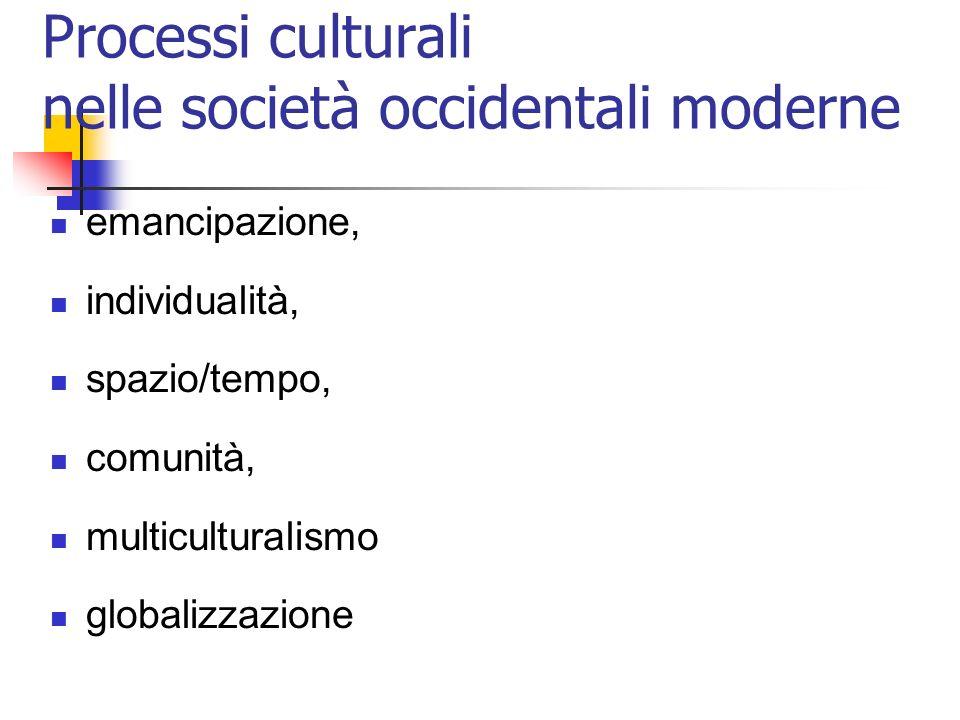 Processi culturali nelle società occidentali moderne