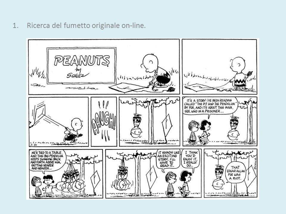 Ricerca del fumetto originale on-line.