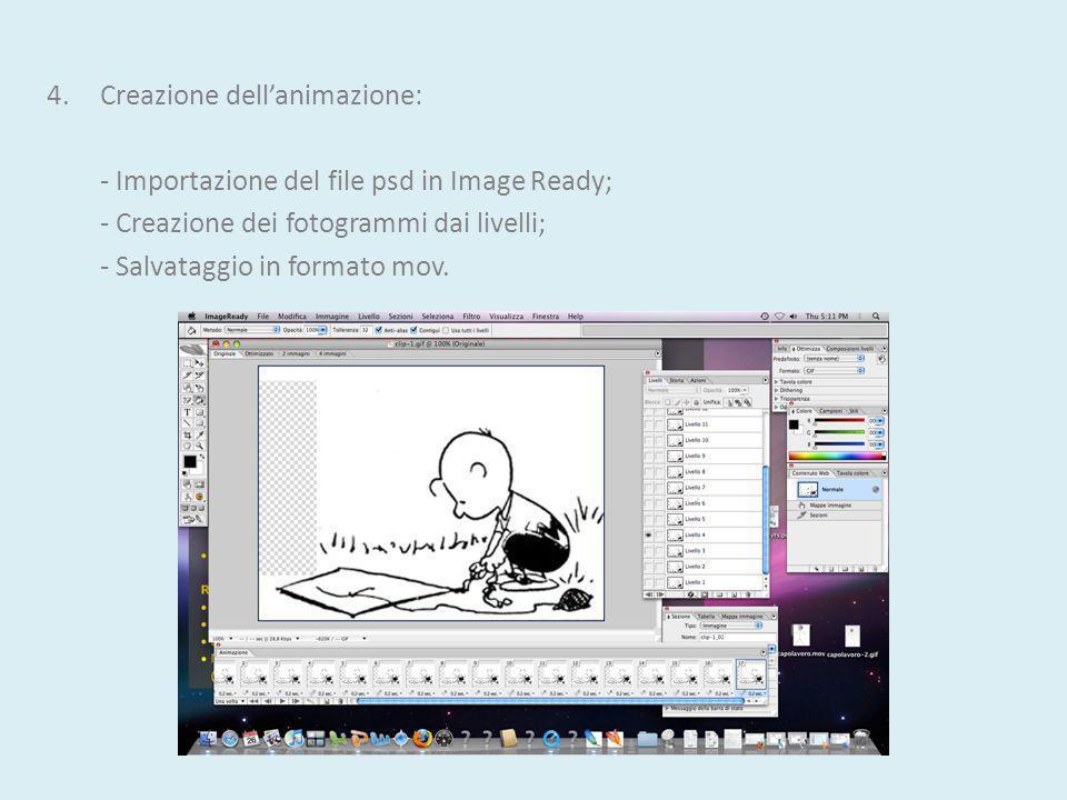 4. Creazione dell'animazione: