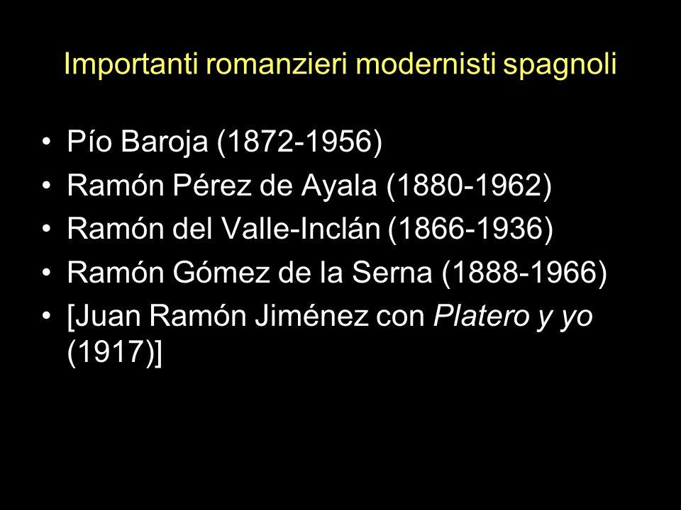 Importanti romanzieri modernisti spagnoli