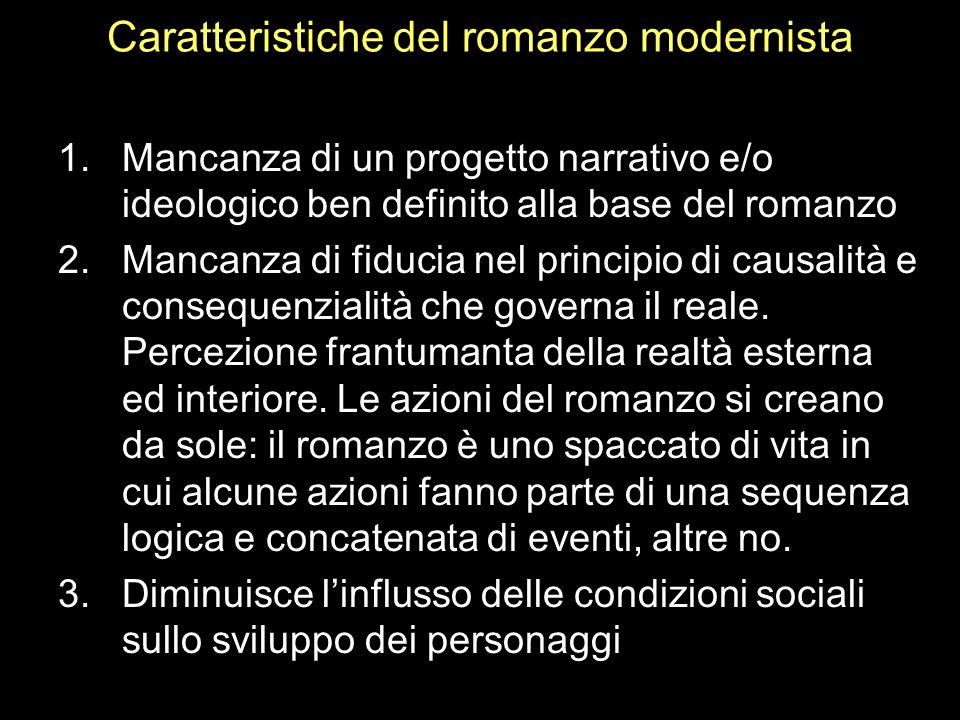 Caratteristiche del romanzo modernista