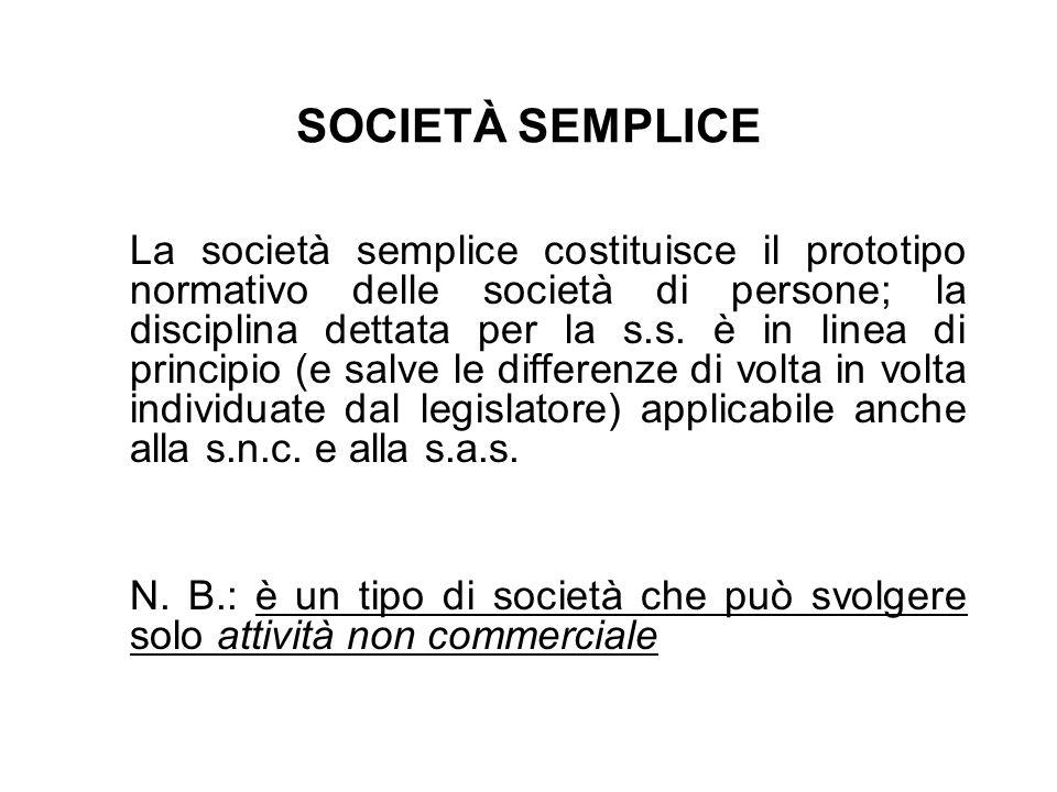 SOCIETÀ SEMPLICE