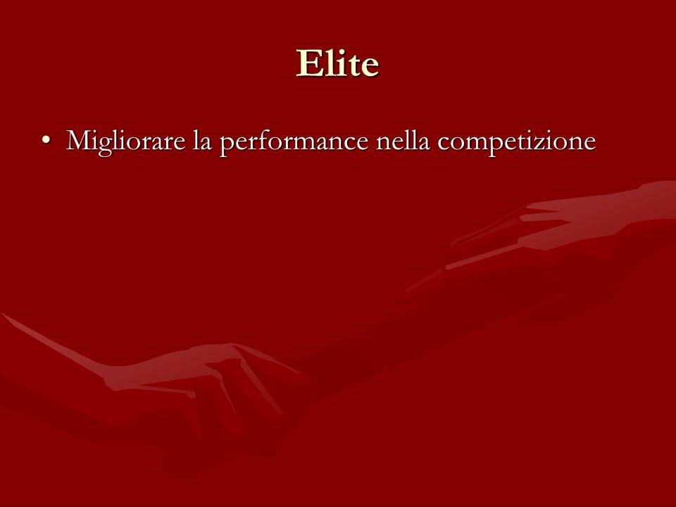 Elite Migliorare la performance nella competizione