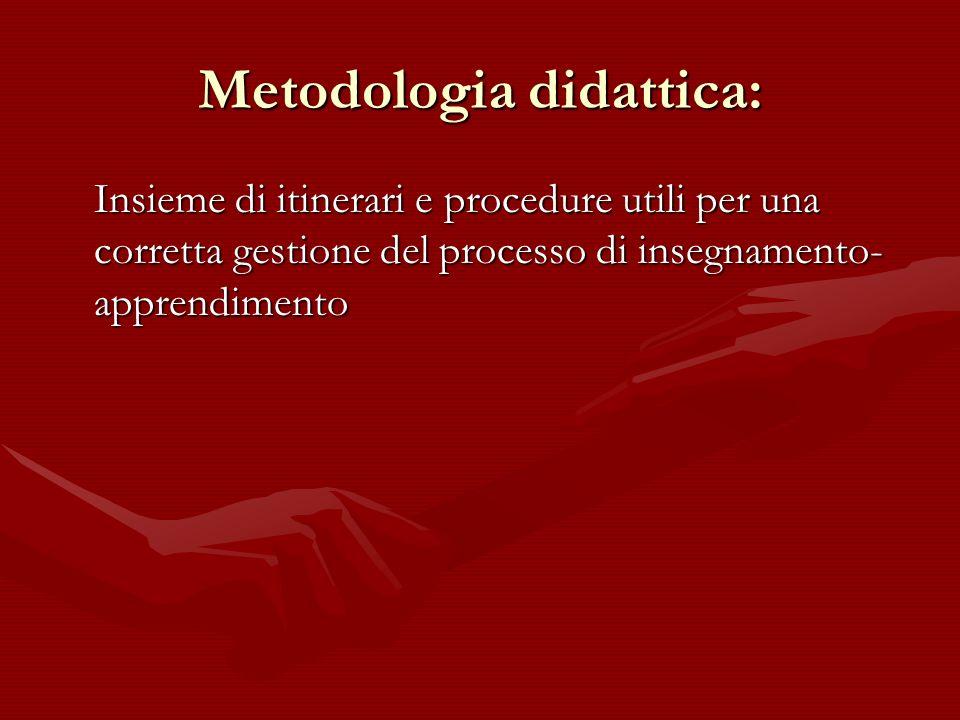 Metodologia didattica: