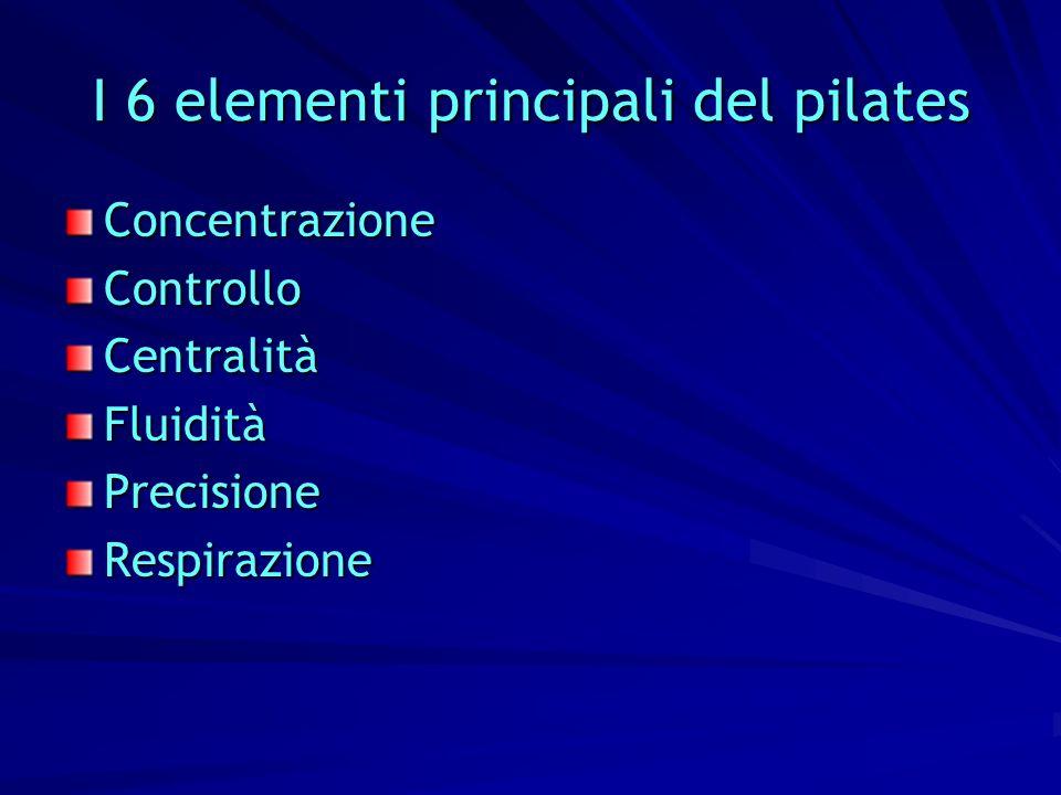 I 6 elementi principali del pilates