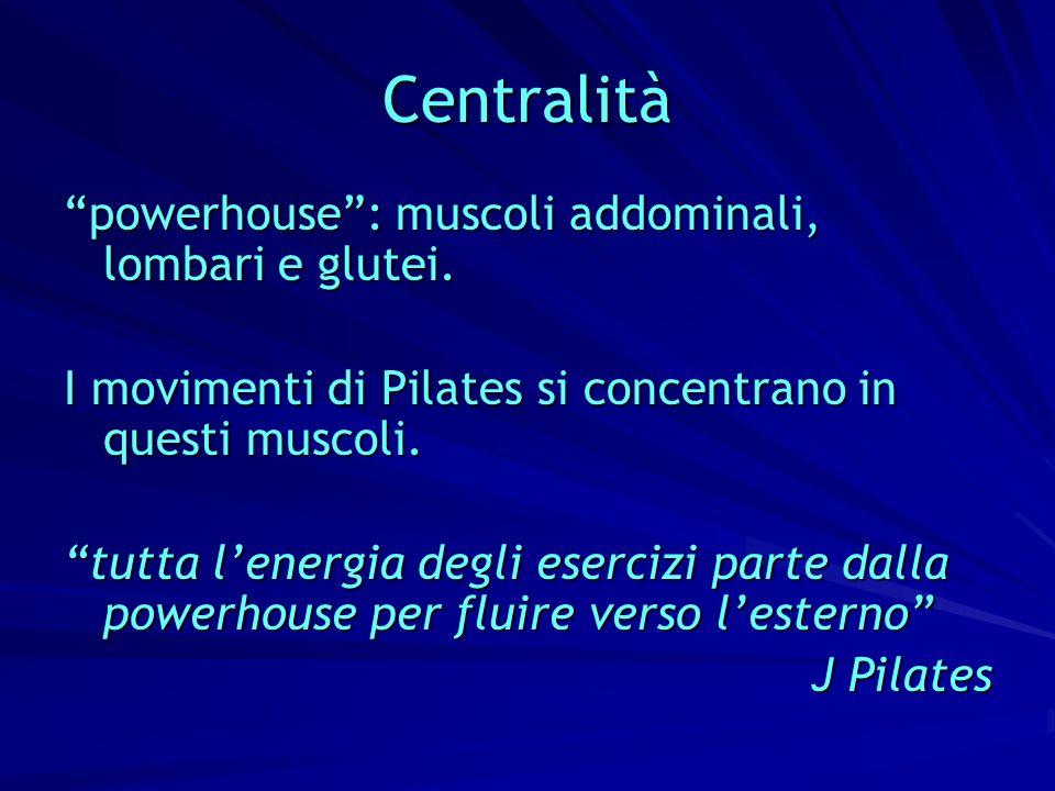 Centralità powerhouse : muscoli addominali, lombari e glutei.