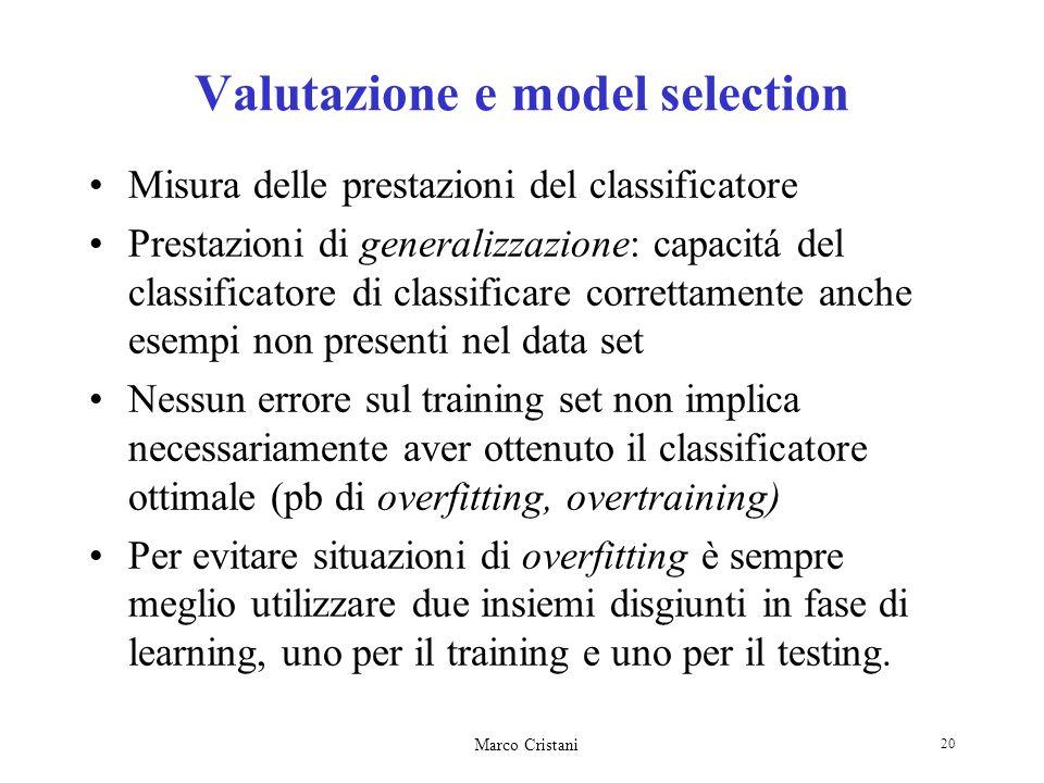 Valutazione e model selection
