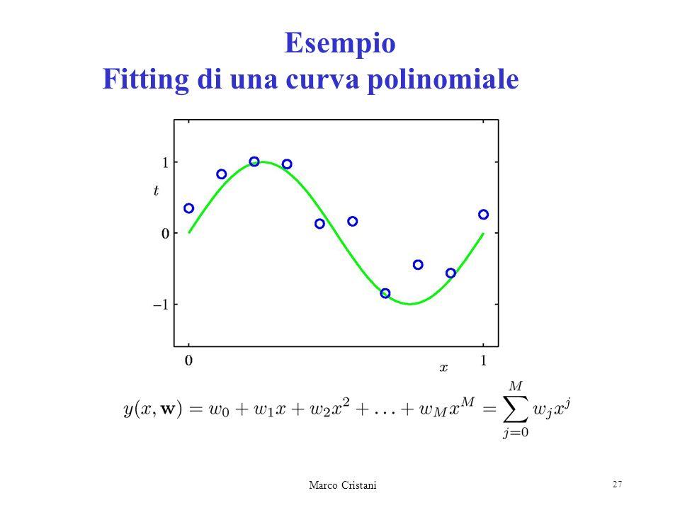 Esempio Fitting di una curva polinomiale
