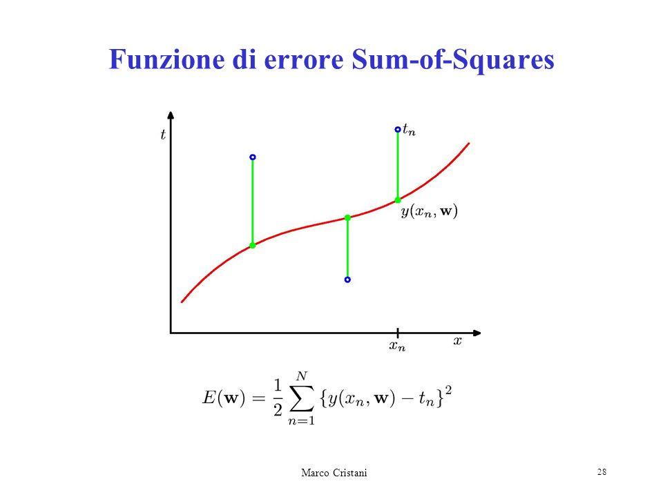 Funzione di errore Sum-of-Squares