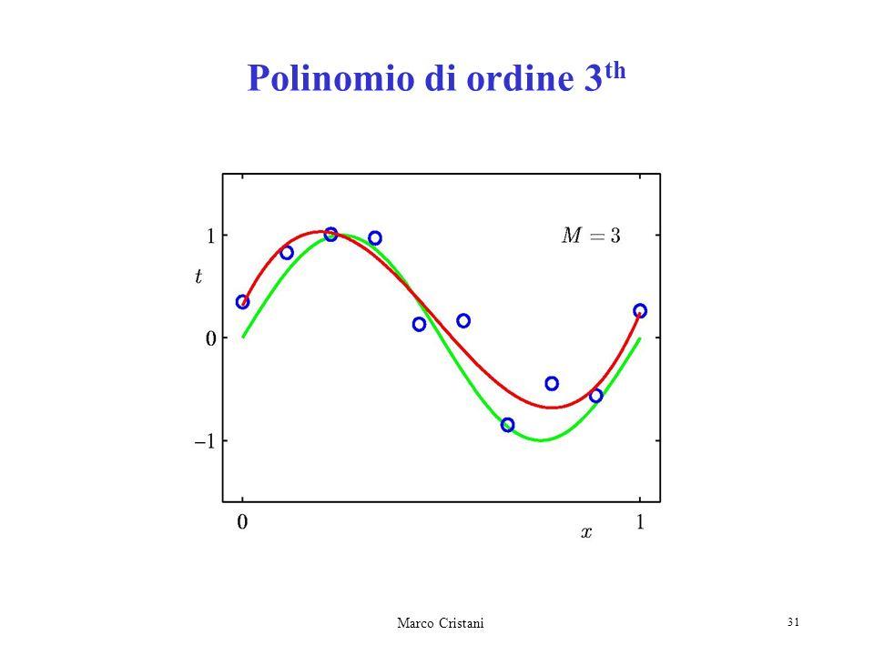 Polinomio di ordine 3th Marco Cristani