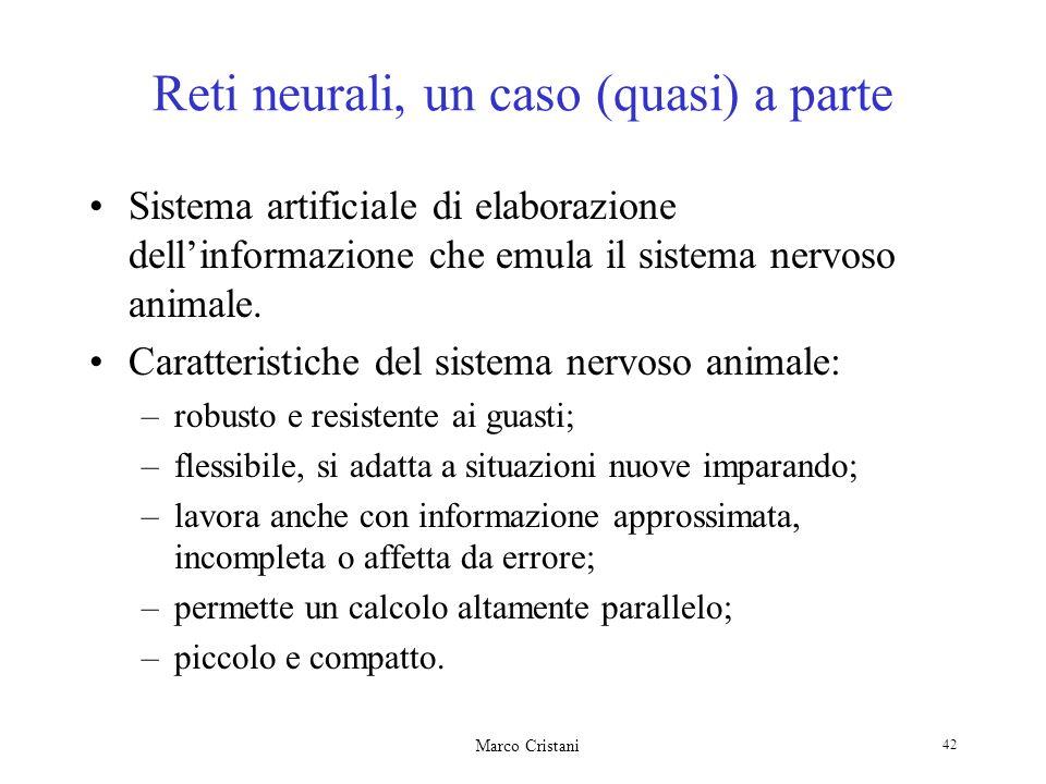 Reti neurali, un caso (quasi) a parte