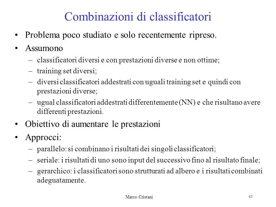 Combinazioni di classificatori