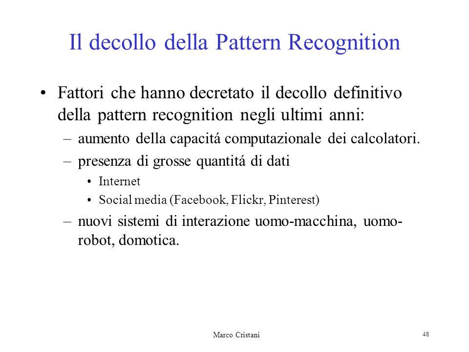Il decollo della Pattern Recognition