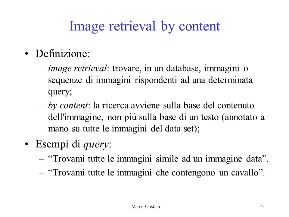 Image retrieval by content