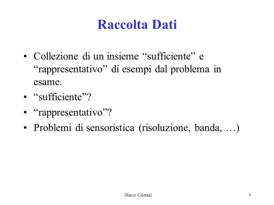Raccolta DatiCollezione di un insieme sufficiente e rappresentativo di esempi dal problema in esame.