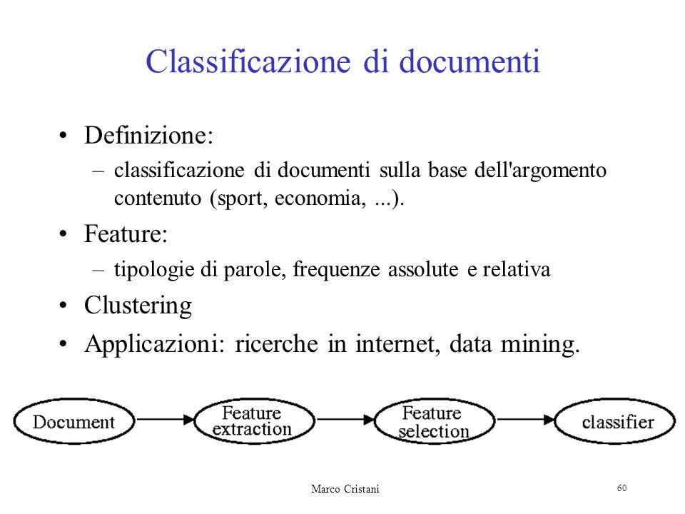 Classificazione di documenti