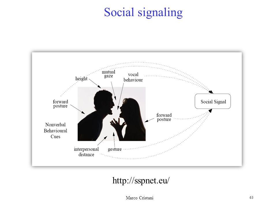 Social signaling http://sspnet.eu/ Marco Cristani