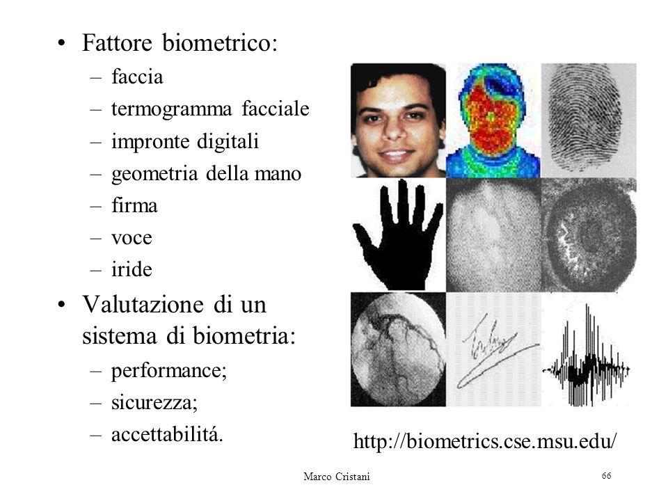 Valutazione di un sistema di biometria: