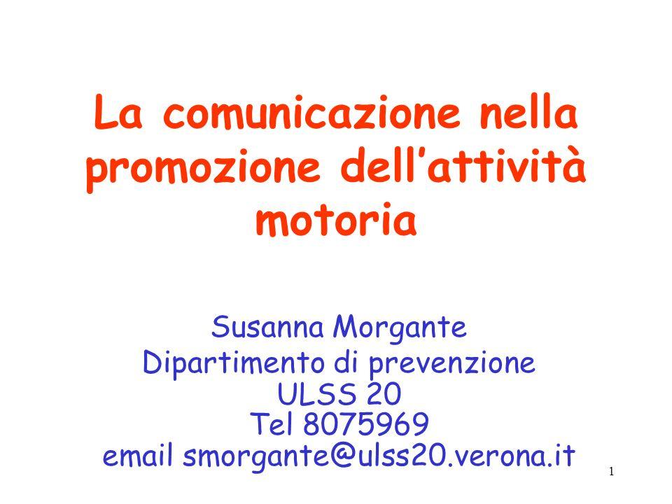 La comunicazione nella promozione dell'attività motoria