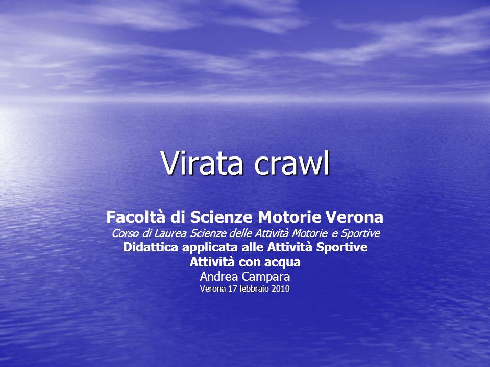 Virata crawl Facoltà di Scienze Motorie Verona