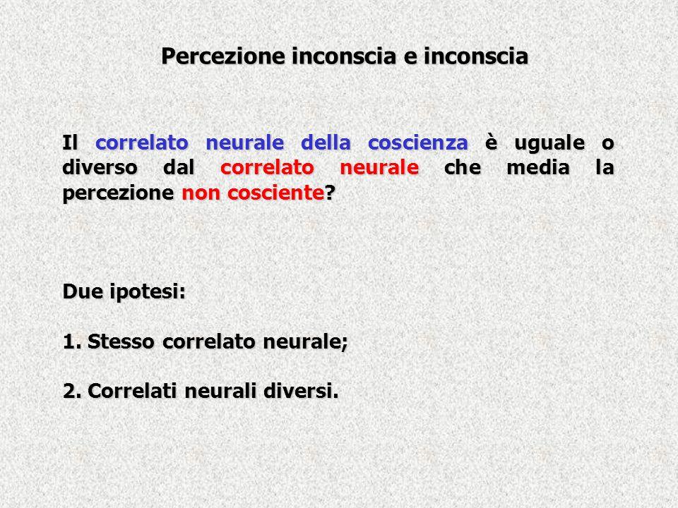 Percezione inconscia e inconscia