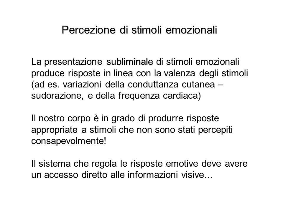 Percezione di stimoli emozionali