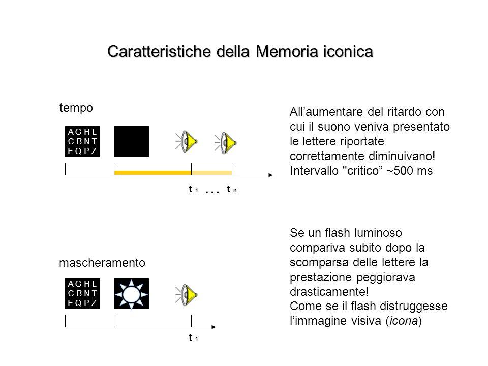 Caratteristiche della Memoria iconica