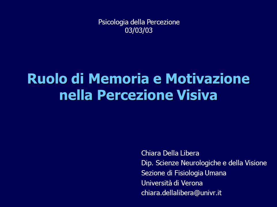 Ruolo di Memoria e Motivazione nella Percezione Visiva
