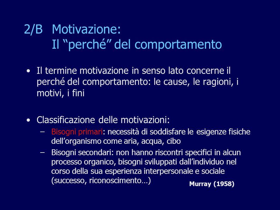 2/B Motivazione: Il perché del comportamento