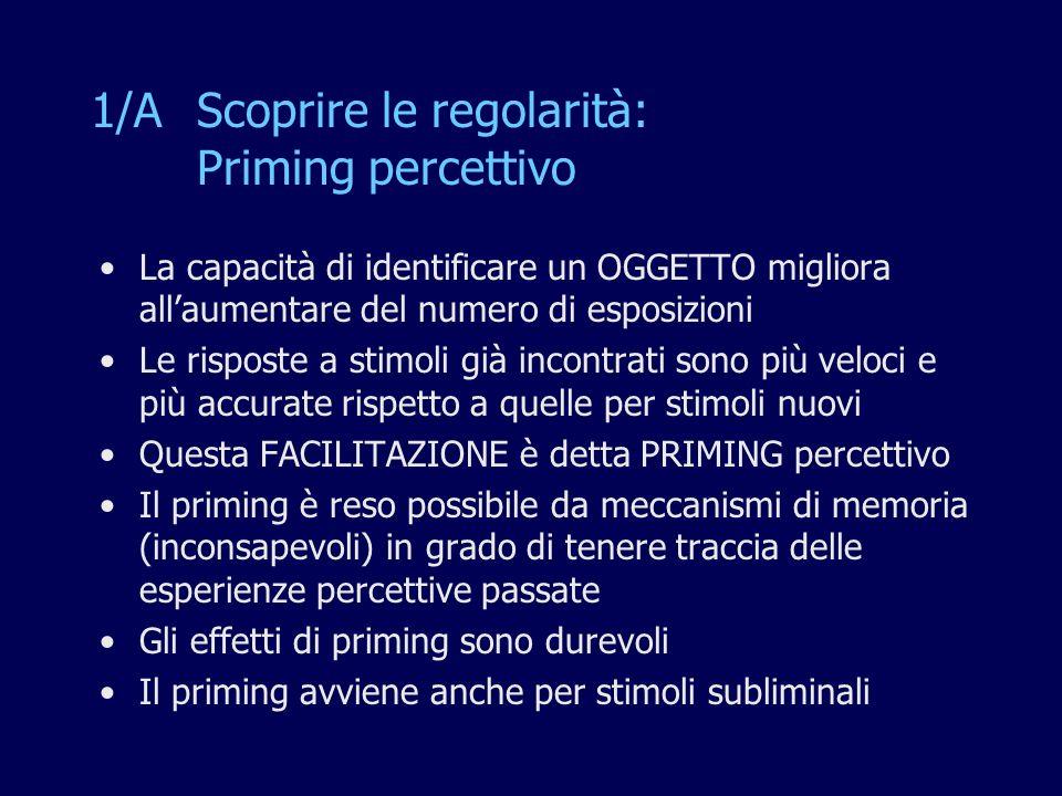 1/A Scoprire le regolarità: Priming percettivo