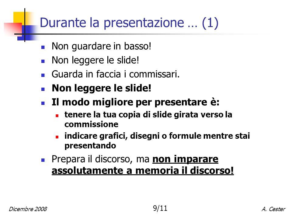 Durante la presentazione … (1)