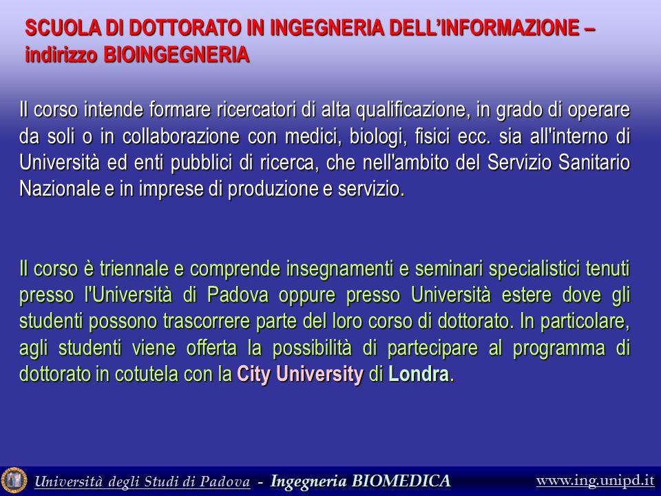 SCUOLA DI DOTTORATO IN INGEGNERIA DELL'INFORMAZIONE – indirizzo BIOINGEGNERIA
