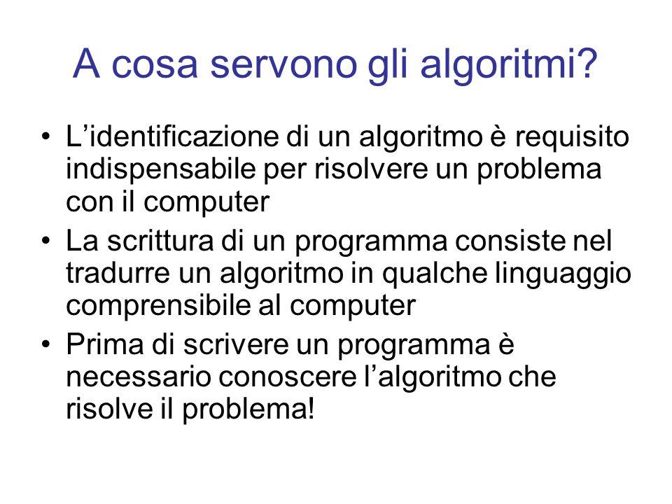 A cosa servono gli algoritmi