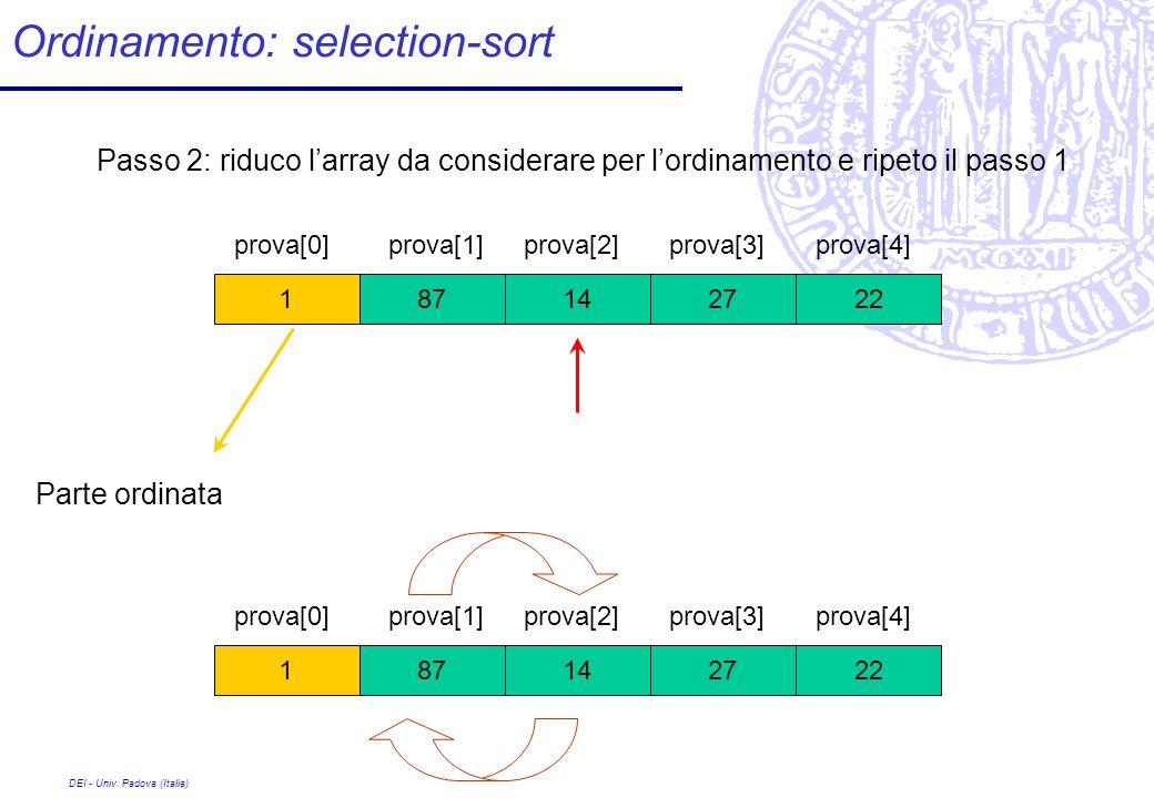 Ordinamento: selection-sort