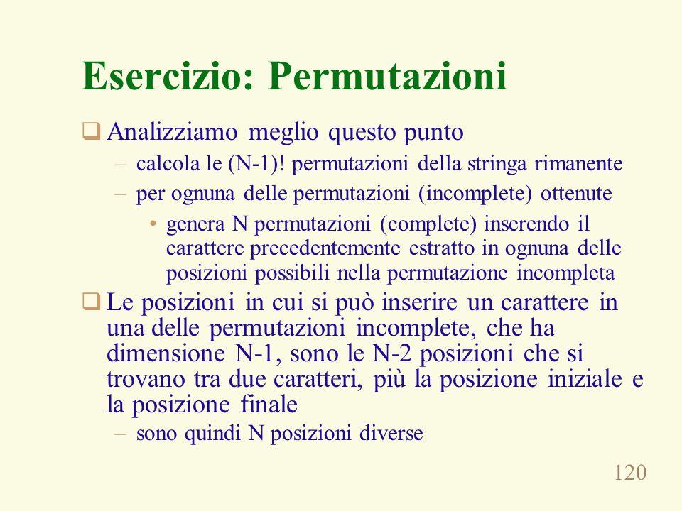 Esercizio: Permutazioni