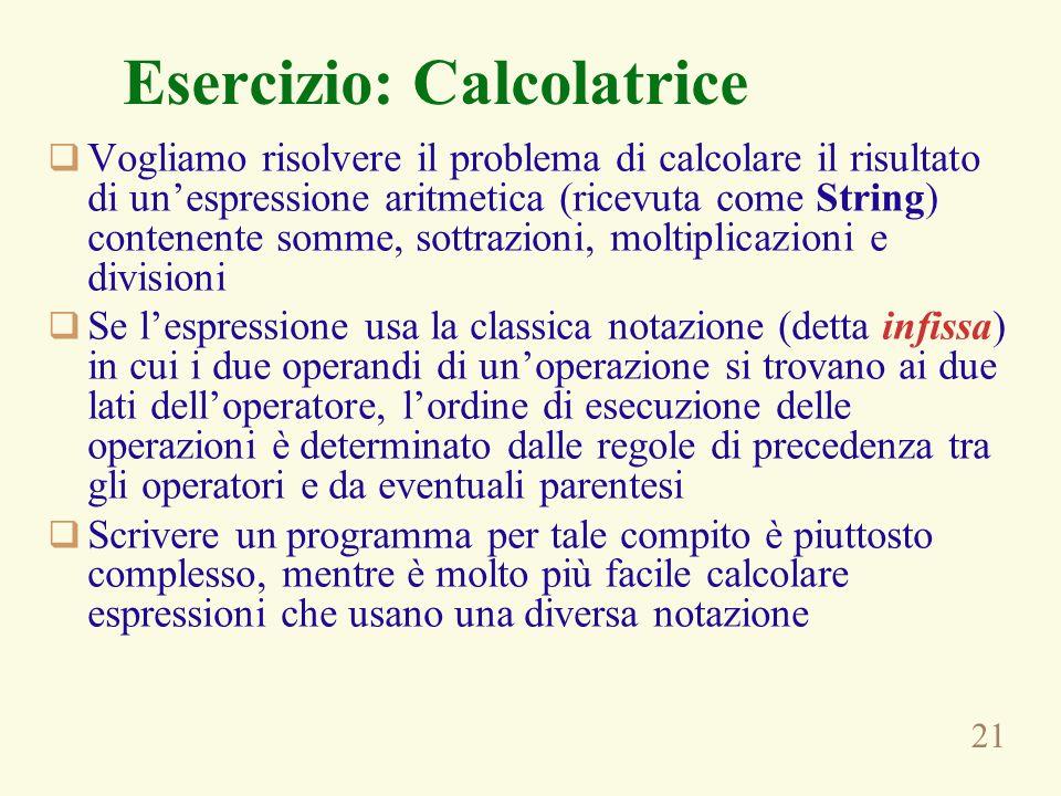 Esercizio: Calcolatrice