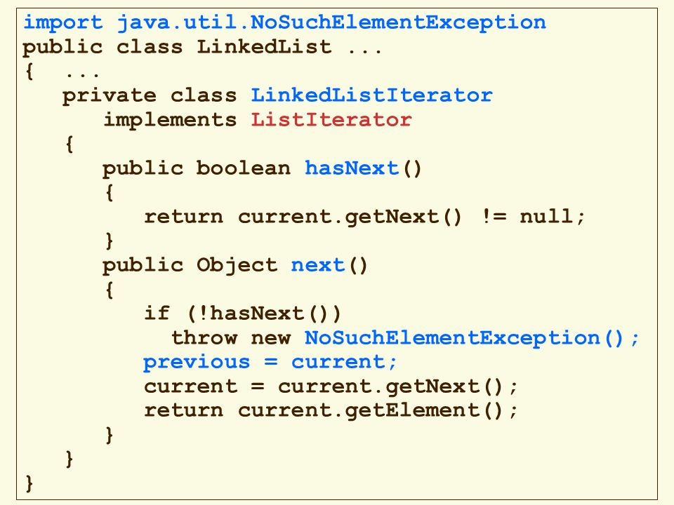 import java.util.NoSuchElementException
