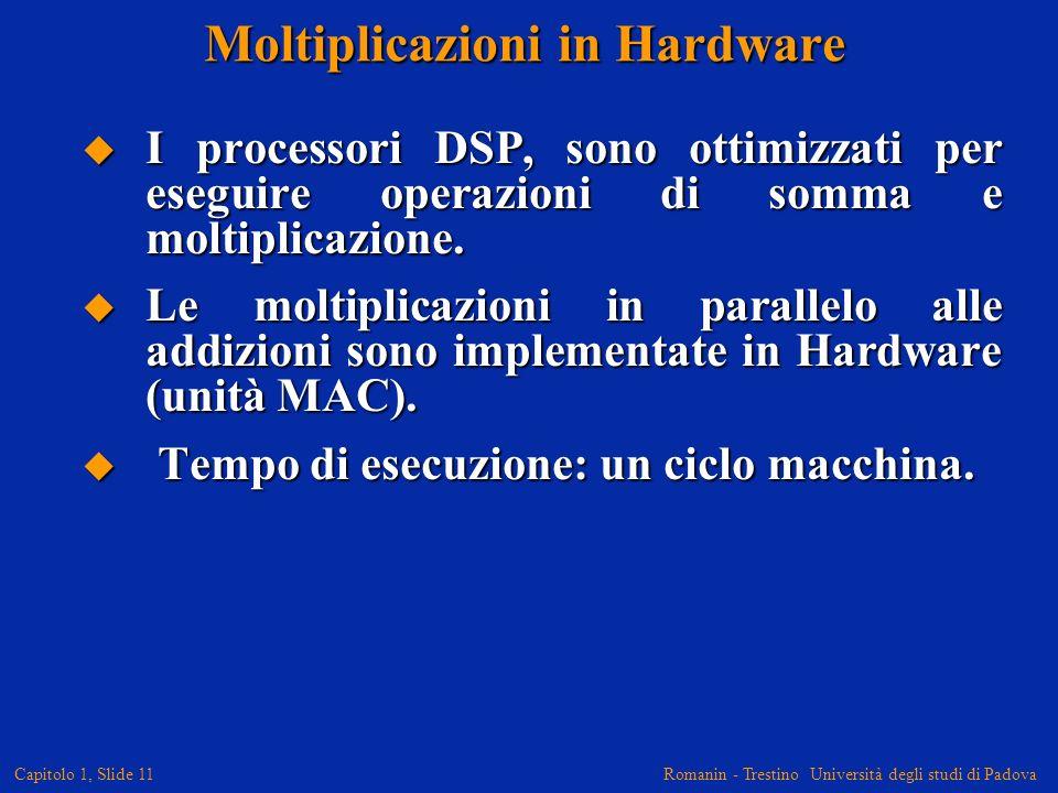Moltiplicazioni in Hardware