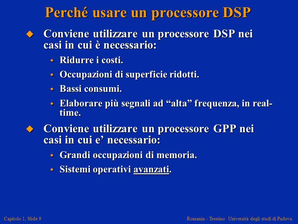 Perché usare un processore DSP